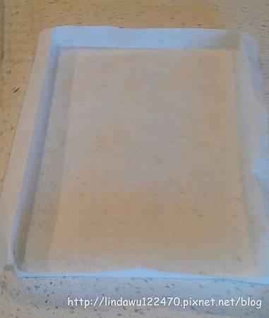 抹茶紅豆蛋糕卷-折烘焙紙