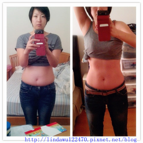減肥前後比較圖