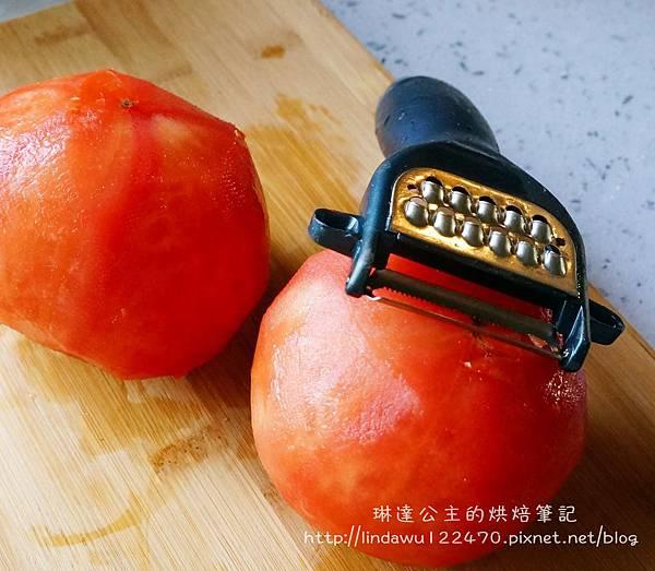 肉醬義大利麵--番茄削皮