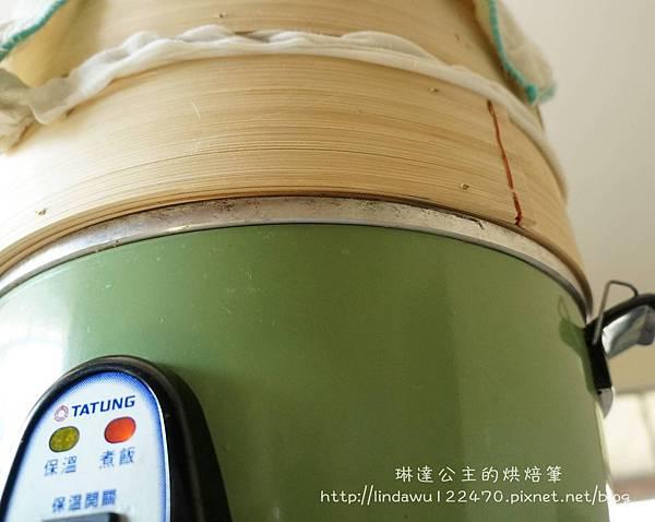 竹筍肉包-竹蒸籠與電鍋