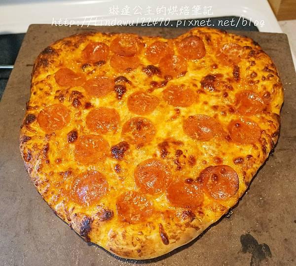 石板披薩--心形成品