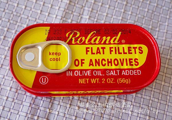 石板披薩--anchovies罐頭