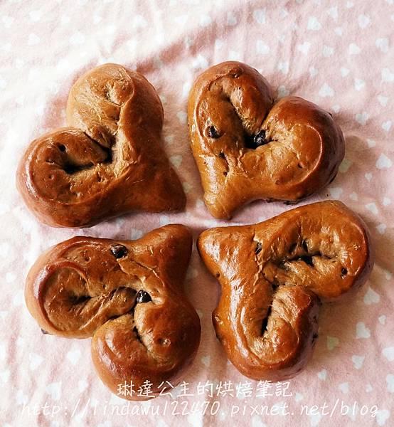 巧克力甜心麵包-成品圖4
