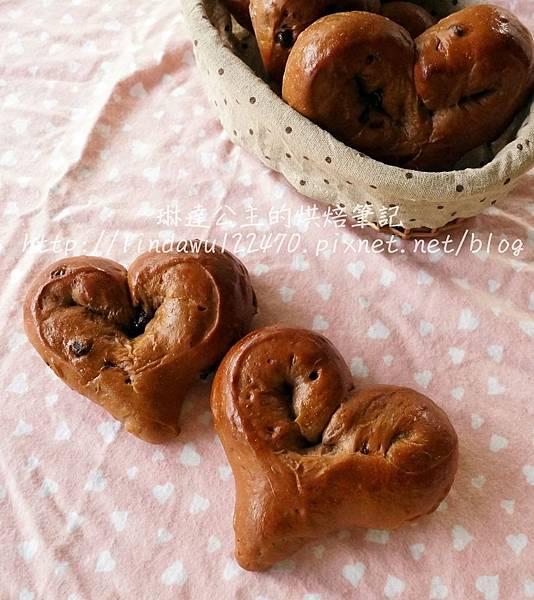 巧克力甜心麵包-成品圖3