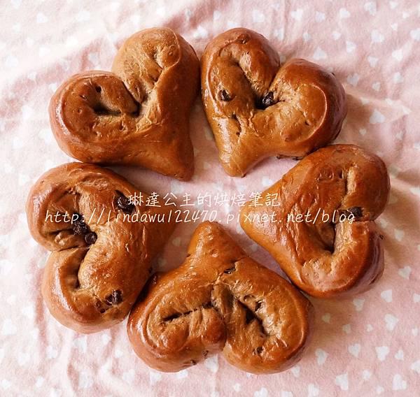 巧克力甜心麵包-成品圖5