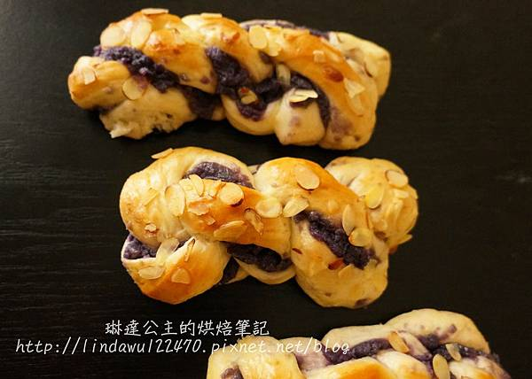 紫地瓜泥麵包-成品圖3