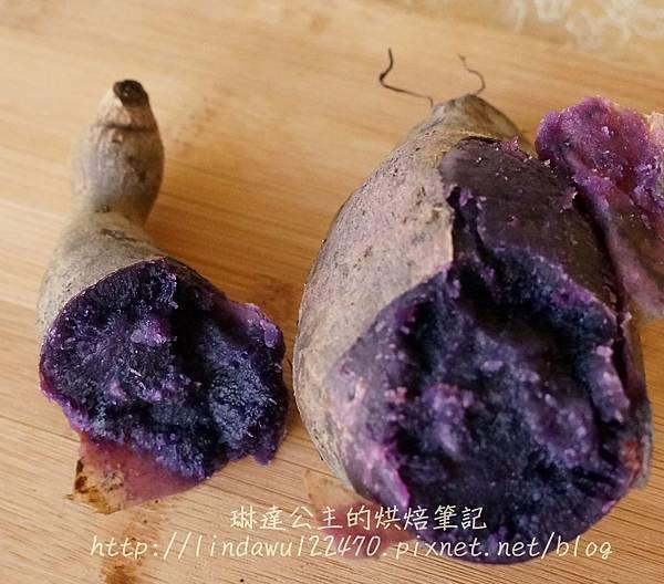 紫地瓜泥麵包-紫地瓜