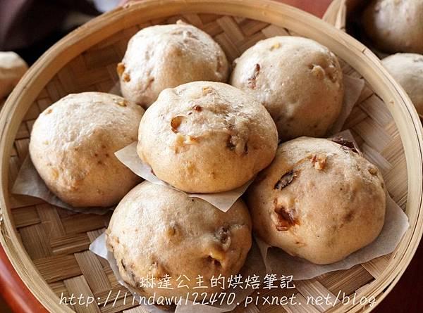 全麥桂圓核桃饅頭 1