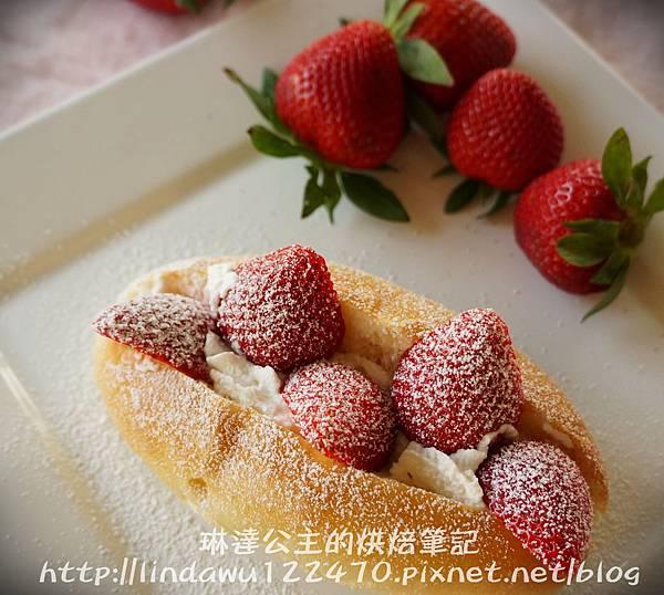 草莓鮮奶油麵包11