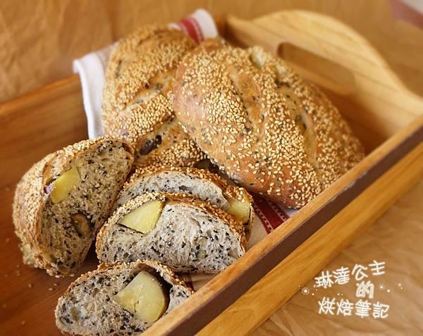 芝麻地瓜麵包 22