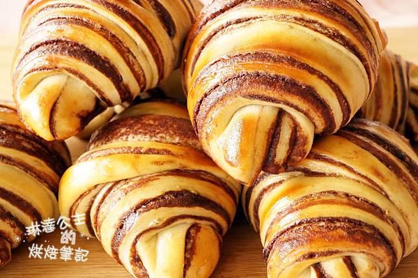 巧克力大理石牛角麵包 18