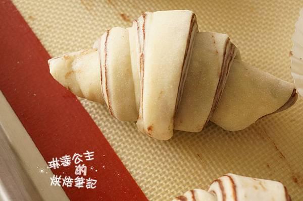 巧克力大理石牛角麵包 17