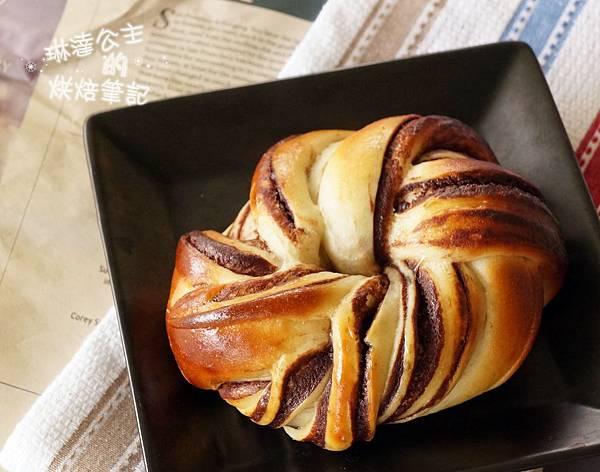 巧克力大理石牛角麵包 22