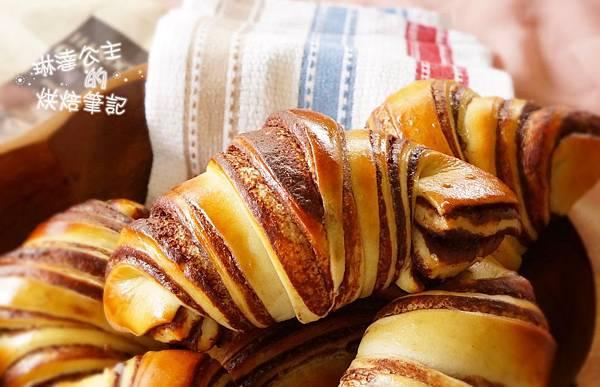 巧克力大理石牛角麵包 23