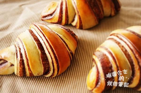 巧克力大理石牛角麵包 24