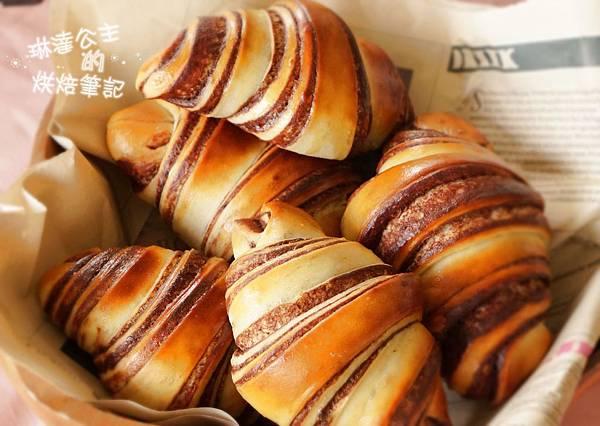 巧克力大理石牛角麵包 20