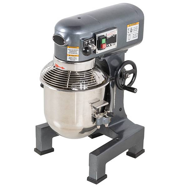 avantco-mx10-10-qt-gear-driven-commercial-planetary-stand-mixer-with-guard-110v-3-4-hp