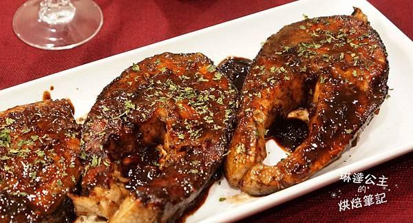紅酒醬燒鮭魚 6