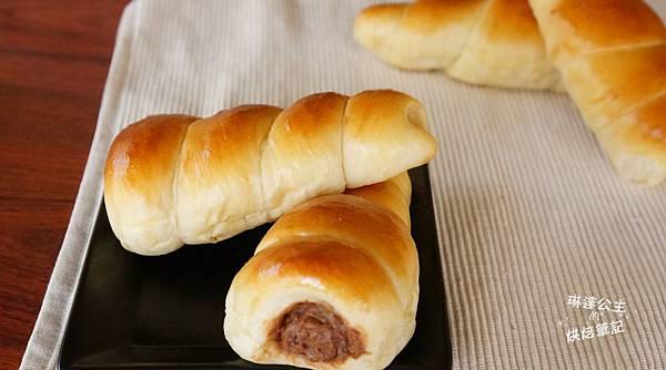 巧克力卡士達螺旋麵包 2