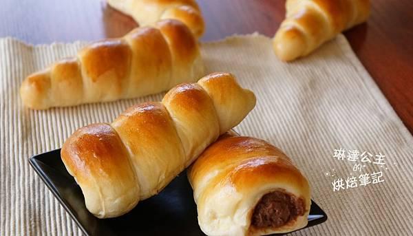巧克力卡士達螺旋麵包 3