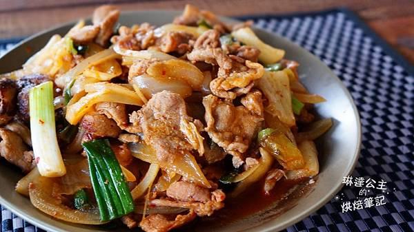韓式泡菜炒豬肉 7