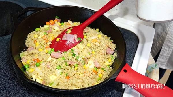 火腿蛋炒藜麥飯-13