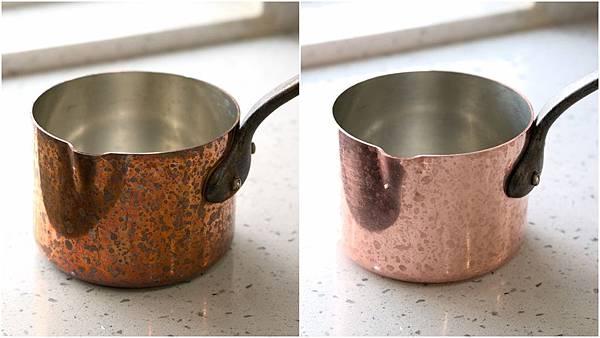 清潔銅鍋比較圖