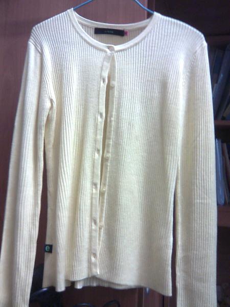 [售出]e-box‧鮮黃羅紋外套