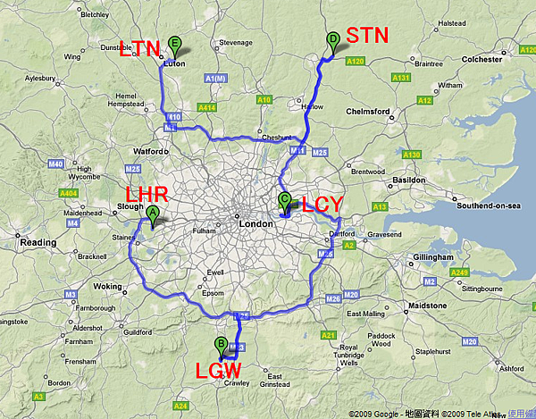 Five Airports of London