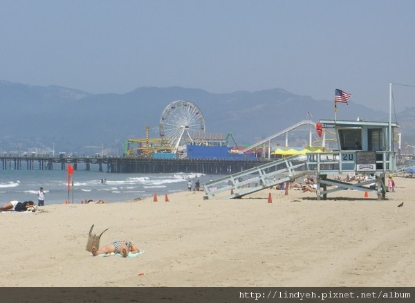 Santa Monica 的海灘
