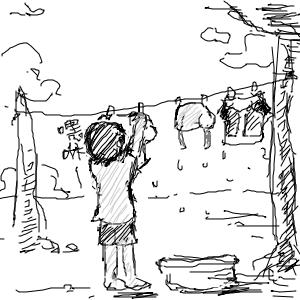 一天-洗衣服