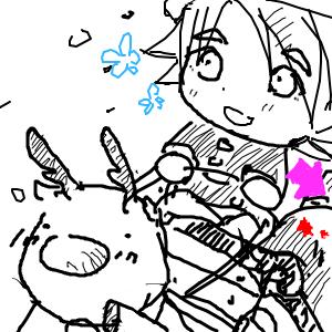 吹雪和鹿茸
