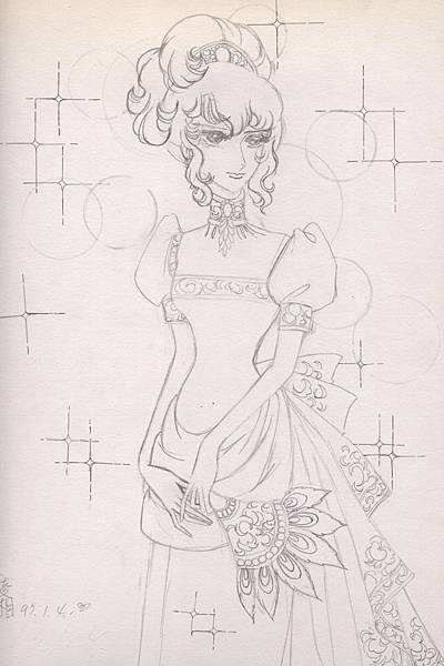 凡爾賽玫瑰--奧斯卡女裝(模仿畫)