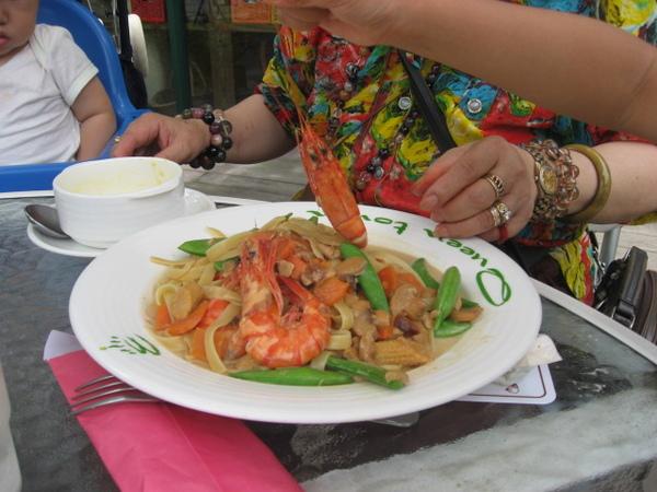 IMG_7955-皇后鎮林森餐點之鮮蝦麵.JPG