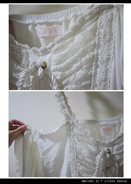 非常細緻的蕾絲&雪紡紗