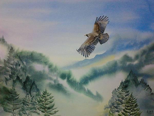 山林魅影--林雕 水彩畫 Arches 水彩紙 76cmx56cm
