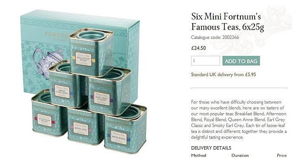 six mini famous teas
