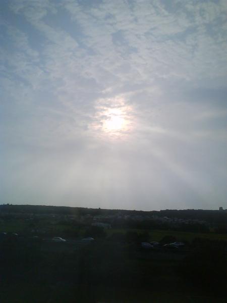 高鐵上的溫暖陽光