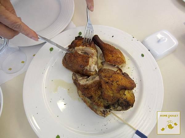 烘布蕾-切半雞