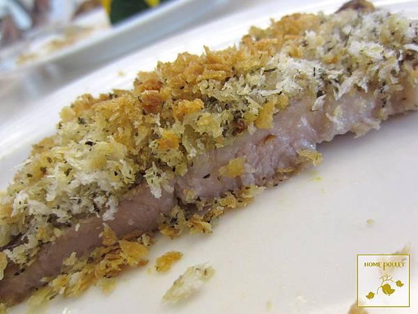 烘布蕾-芥茉子豬排切面