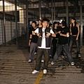 和Urban Groove的舞蹈员进行舞蹈拍摄部分