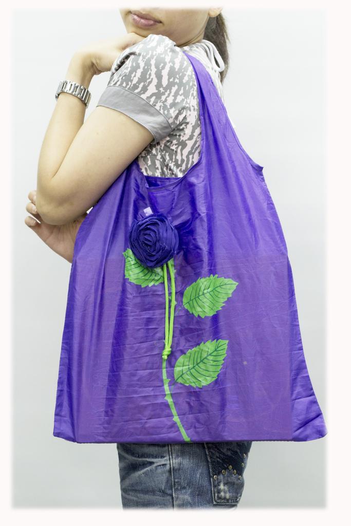 玫瑰花折疊環保袋