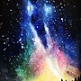 水彩練習 》》》銀河