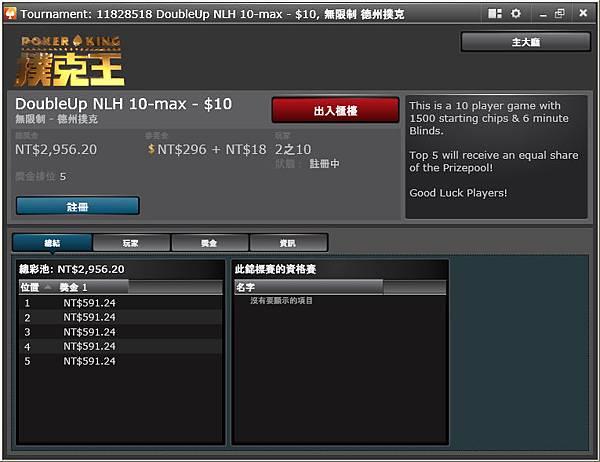 撲克王- 最近常打的坐滿開賽