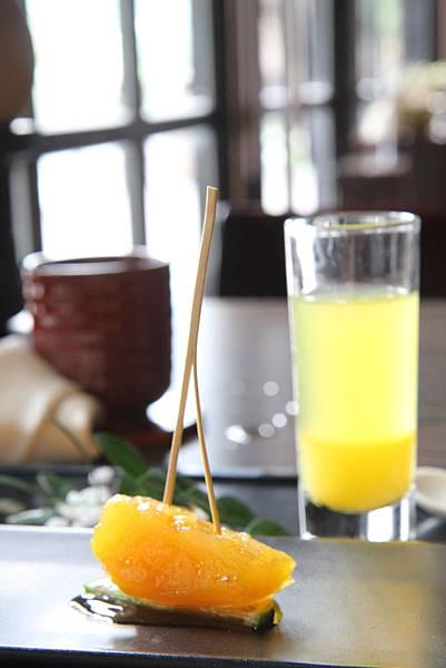 甜地瓜+百香果汁