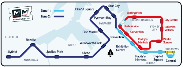 Sydney Light Rail Map
