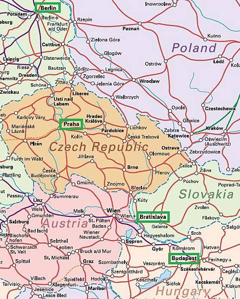 Berlin-Budapest railmap