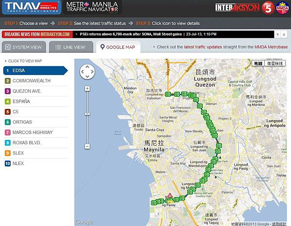 MMDA-google map