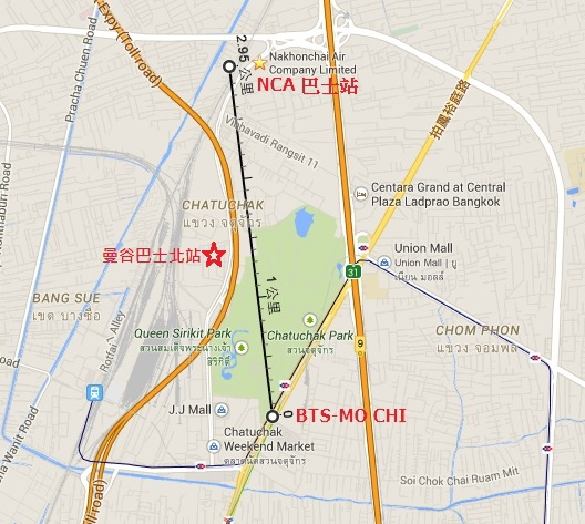 NCA BUS MAP