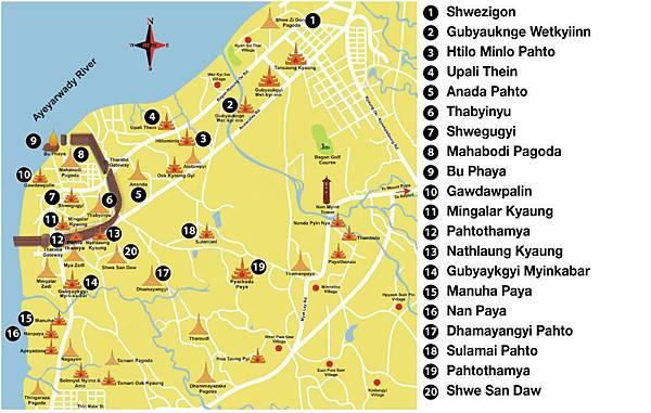 bagan pagoda map